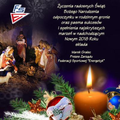 Kartka Boże Narodzenie 2017 FS Energetyk